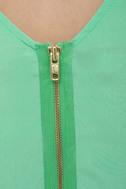 Babytalk Belted Mint Green Dress