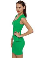 Figure It Out Kelly Green Dress
