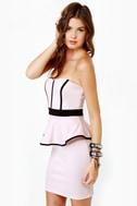 Sweet-ish Dish Strapless Light Pink Dress