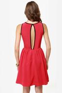 Calamity Jane Red Lace Dress
