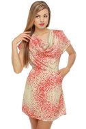 Speaking in Speckles Red Print Dress