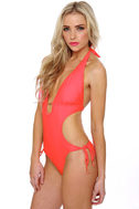 H2-OMG! Coral Pink Monokini
