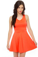Call Me Baby Neon Orange Dress