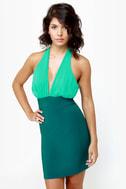 A-List Twist Teal Dress