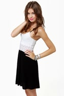 Picture Perfect Black and White Dress