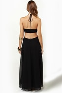 Long Division Black Maxi Dress