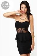 Center of Gravity Black Lace Dress