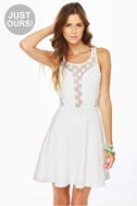 LULUS Exclusive Party Don\'t Stop Ivory Dress