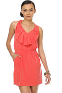 Bonita Barcelona Halter Coral Dress