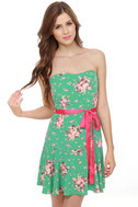 Impending Bloom Green Floral Print Dress