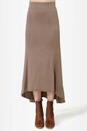 In the Near Flute-ure Light Brown Maxi Skirt