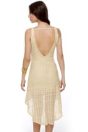 Crochet-ndo Cream Dress