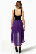 For Keeps Black and Purple Dress