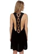 Under the Sun Black Lace Dress