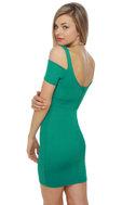 Mystery Woman Teal Dress