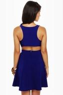 Stuck on You Cutout Royal Blue Dress