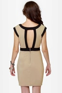 Double Exposure Taupe Dress
