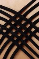 Opening Lines Backless Black Blazer