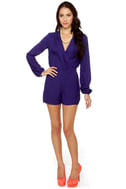 Have a Look-See Indigo Blue Romper