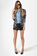 BB Dakota Bryn Black Leather Shorts