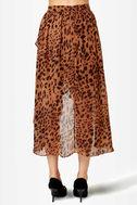 Animal Channeled Leopard Print Skirt
