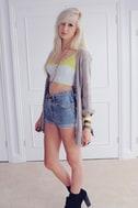Hang Ten Neon-Trimmed Bustier Top