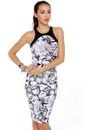 Motel Nina Black and White Print Dress