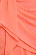 Midnight Masquerade Strapless Peach Dress