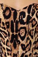 Tripp NYC Fitted Leopard Print Dress