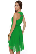 Lay-Yours Truly Green Dress