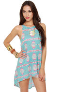 Tails of the West Southwest Print Tunic Top