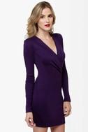 Foreign Film Purple Dress