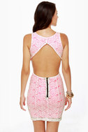 Party Rock Neon Pink Lace Dress