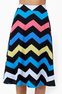 Zag Queen Zigzag Print Skirt