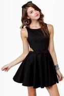 Queen of Swing Black Dress