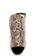 Kelsi Dagger Cameo Natural Black Leather Snakeskin Heels