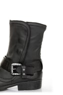 Report Woods Black Belted Convertible Motorcycle Boots