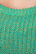 Little Secrets Teal and Gold Sweater
