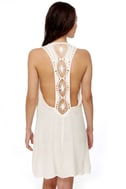 Under the Sun Ivory Lace Dress