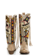 Big Buddha Wayne Natural Multi Southwest Print Cowboy Boots