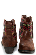 Big Buddha Wendy Brown Multi Southwest Ankle Boots