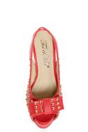 Toi et Moi Daisy 07 Red Studded Slingback Platform Heels