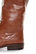 Bamboo Montage 01N Chestnut Knee-High Riding Boots