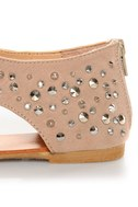 Bamboo Morris 25 Nude Studded and Spiked Thong Sandals
