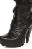 Brooke Black Belted High Heel OTK Boots