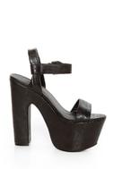 C Label Christian 8 Black Super Platform Sandals