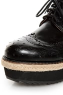 C Label Nata 6 Black Brogue Creeper Platform Oxfords