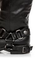 Dollhouse Hit Black Biker Babe Belted OTK Motorcycle Boots