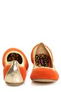 Dollhouse Mystical Orange and Gold Ballet Flats