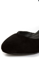 Envy Iris Black Suede D\\\'Orsay Wedges